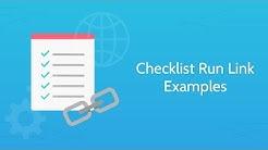 Checklist Run Link Examples