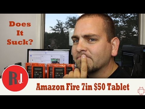 Amazon Fire 7in 5th Gen $50 tablet unboxing & first impressions