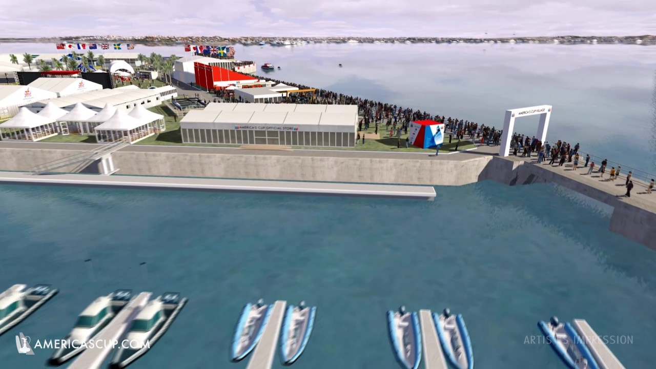 First look at the 35th America's Cup Village in Bermuda