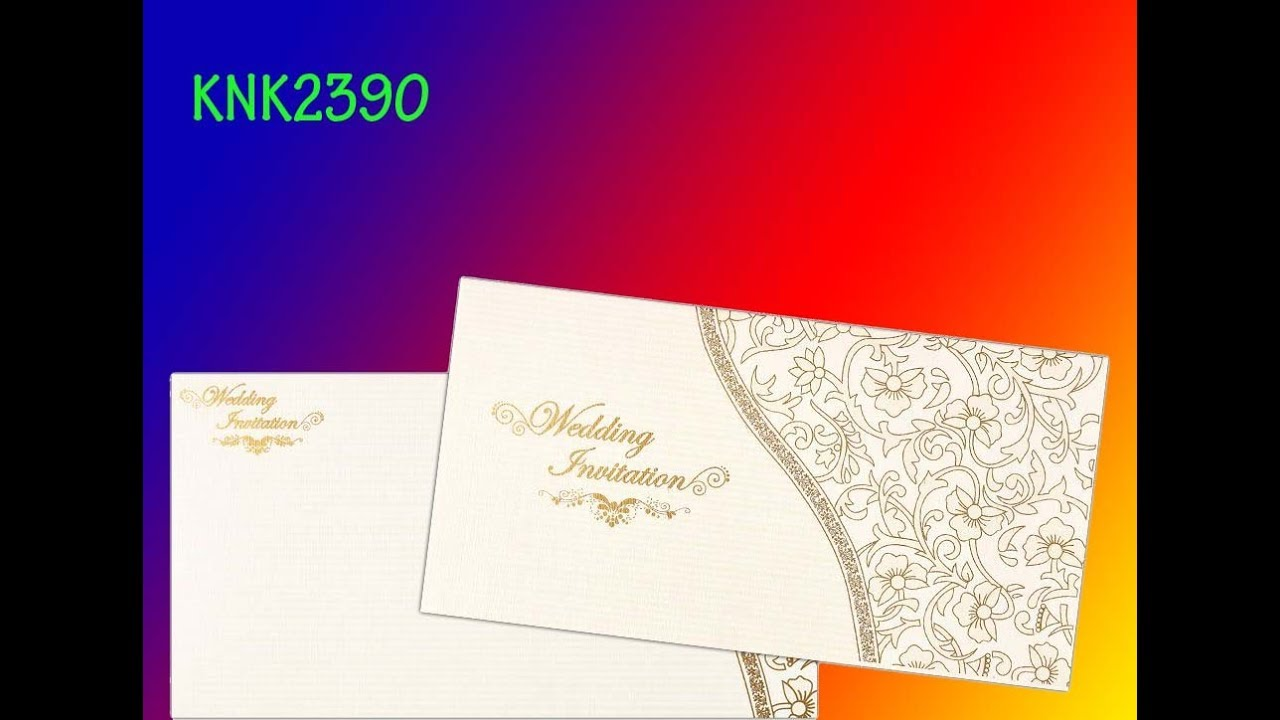 Invitation Card - Beautiful Christian Wedding Invitation-KNK2390 ...