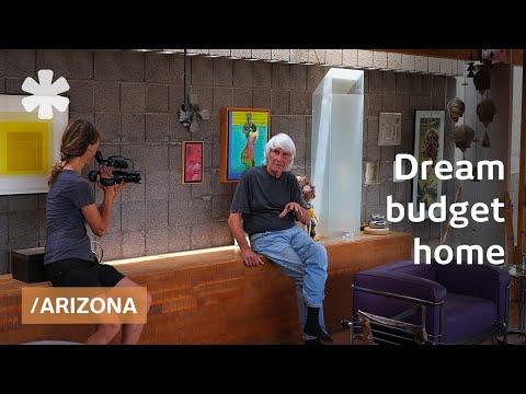 Architect's simple dream home in AZ's saguaro cactus forest