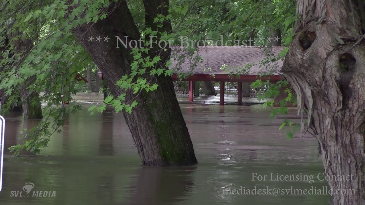 St  Peter, MN - Minnesota River Flooding, Road Closures - June 26th, 2018  NFB