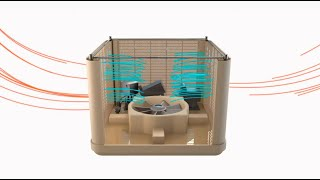 Bioclimatizador evaporativo Coolbreeze de TECNA