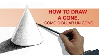 HOW TO DRAW A CONE / COMO DIBUJAR UN CONO