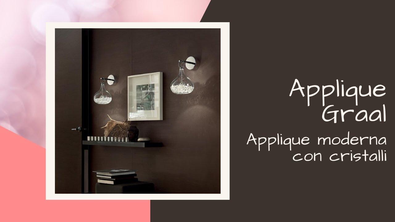 Applique lampada da parete classico con cristalli illuminazione
