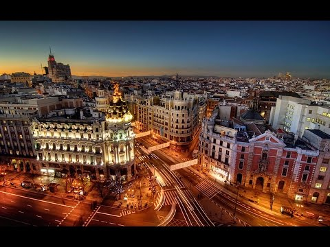 Madrid  at night Spain guide travel 2016 HD #2