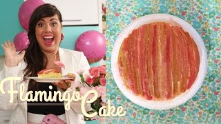 Flamingo Cake - How To Make Moist Rhubarb Cake!