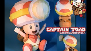 Captain Toad Papercraft Video Guide