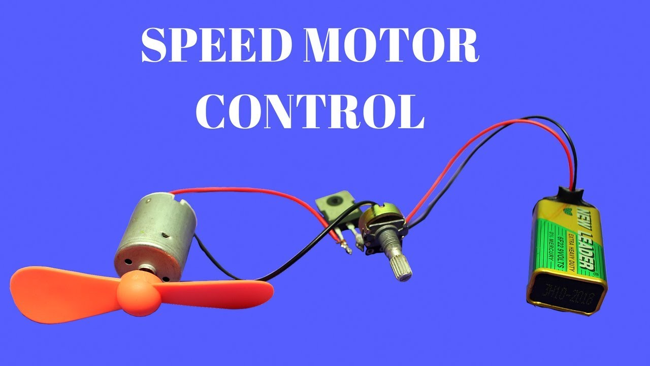 How To Make Dc Motor Speed Controller Simple Dc Motor