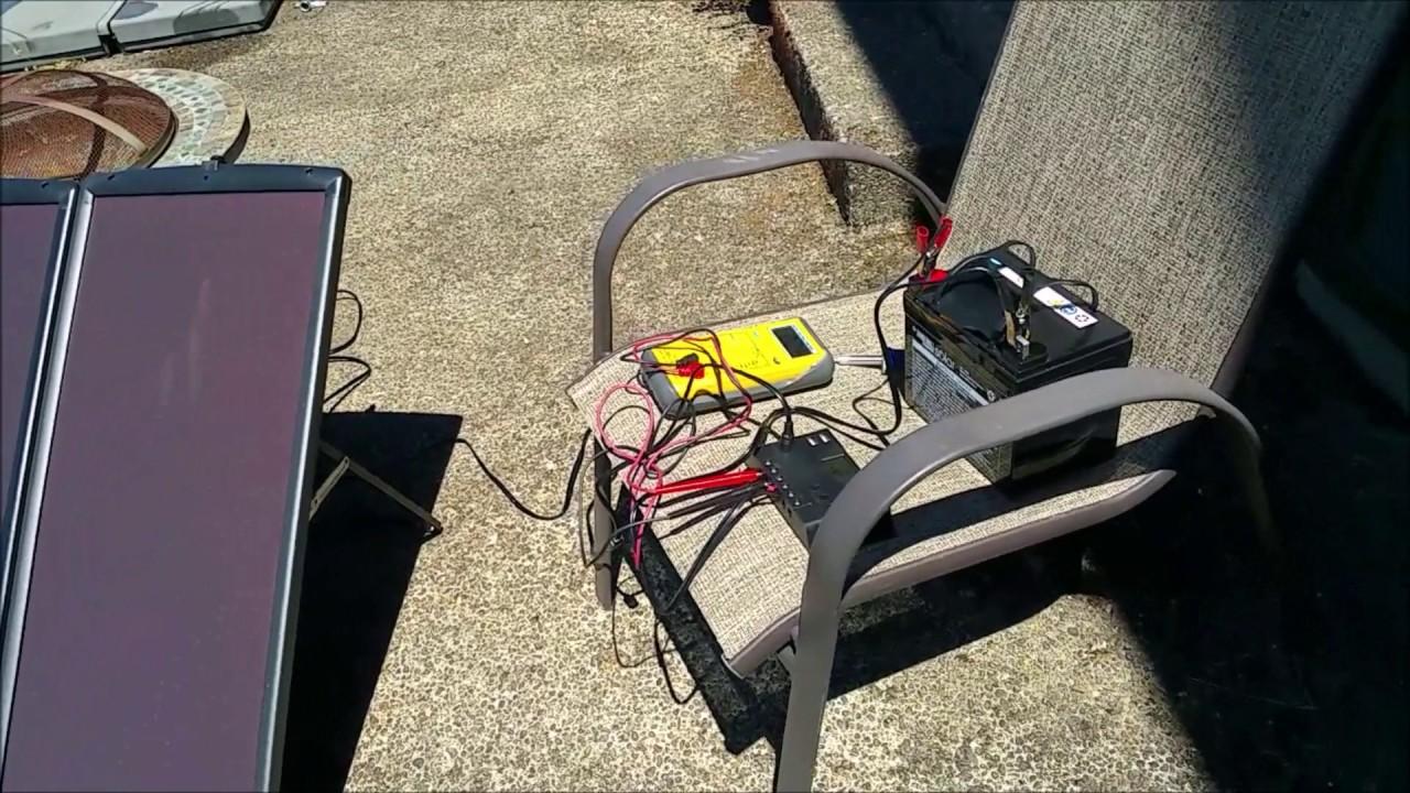 Harbor Freight 100w Solar Kit Day 2 Youtube