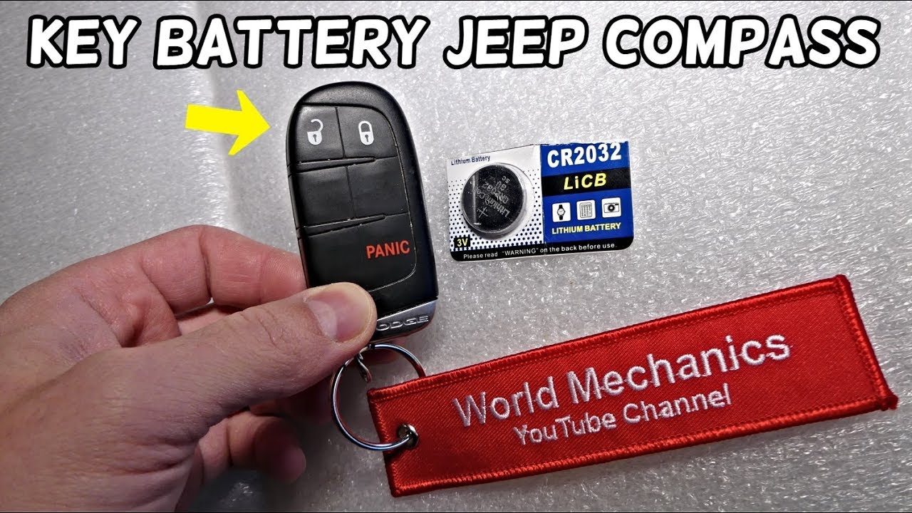 How To Replace Key Fob Battery On Jeep Compass Youtube