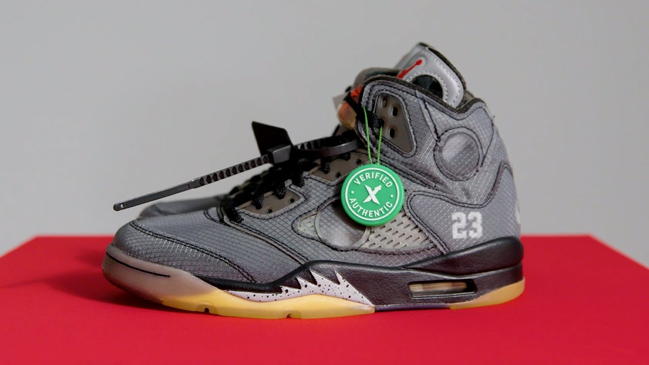 air jordan 5 off white stock