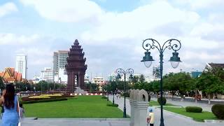Asian Travel and Tour, Independence Park in Central Phnom Penh, Kingdom of Cambodia