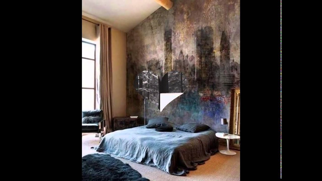 A bedroom wall mural is a great way to add ambiance and style. - YouTube