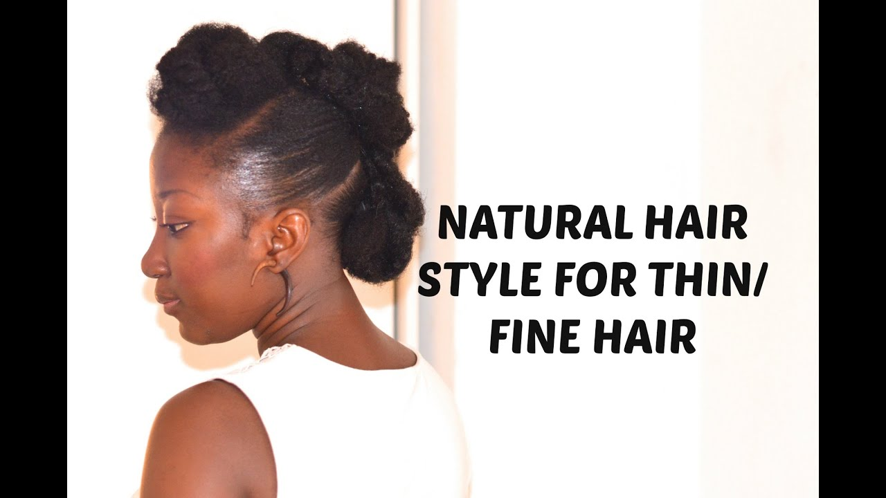 Natural Hair Style For Thin Fine Hair! YouTube