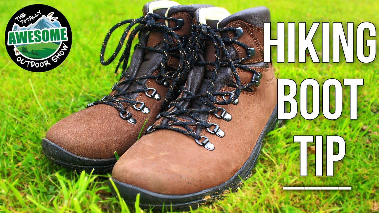 How to lace up a Hiking boot - Simple