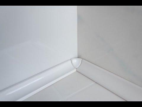 Как самому приклеить керамический уголок на ванну или душевую кабину