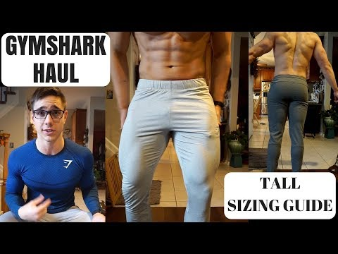 GYMSHARK HAUL AND UNBOXING | Size Guide/Reference for Taller Guys