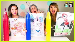 Giant 3 Markers Challenge Switch Up Disney Pixar Incredibles 2