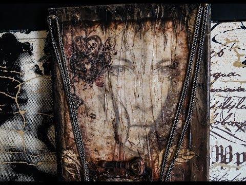 Decoupage Tutorial Mix Media Canvas -  Ντεκουπάζ σε Καμβά - DIY Craft by Debi