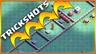 EXTREME PUSH TRAP TRICKSHOTS | WORLD RECORD JUMP TROLL BASE! | Clash of Clans