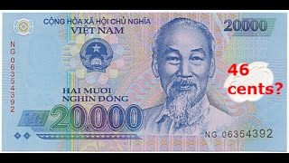 State Bank of Vietnam - Vietnamese Dong USD Rate News Showing 46/47 Cents