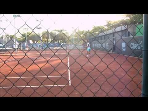 Santiago Haas practice with Albert Ramos-Viñolas ranked ATP #24
