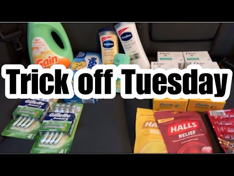 DOLLAR TREE And DOLLAR GENERAL $5 COUPONING CHALLENGE | Trick Off Tuesday (Re-upload)