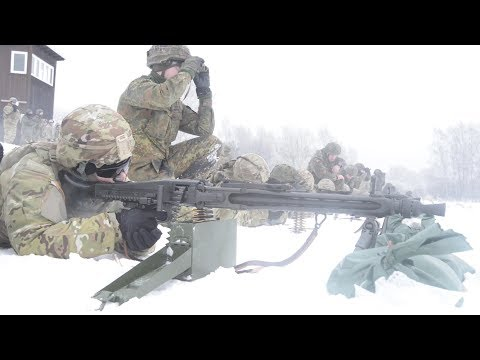 US Army Soldiers Fire The Legendary German Made MG3 Machine Gun