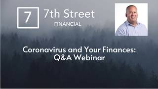 Coronavirus and Your Finances: Q&A Webinar