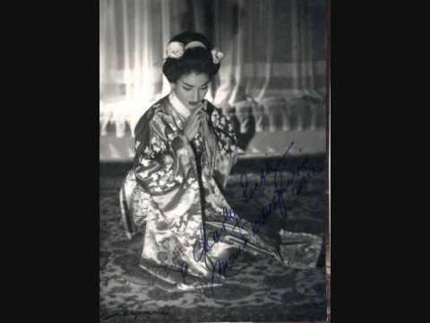 Maria Callas. Con onor muore. Madama Butterfly. Giacomo Puccini.