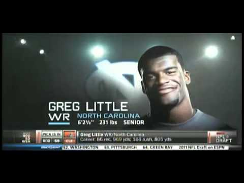 Clevlend Brows Pick Greg Little WR (Pick 59) NFL Draft 2011