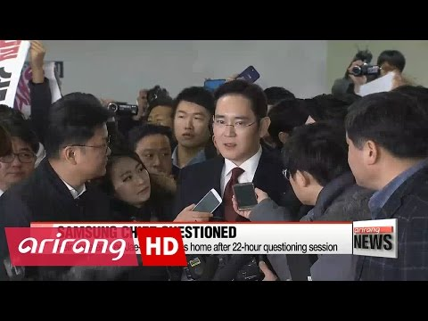 Samsung heir apparent returns home after overnight questioning