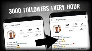 How to get 3000 Followers in an Hour on Instagram ? 2018 ✔