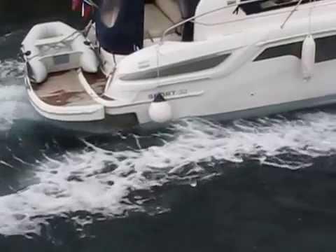 Osor - plovba skozi kanal 30. jun. 2014