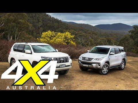 2018 Toyota Prado vs Toyota Fortuner comparison review   4X4 Australia