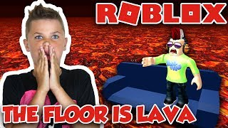 DER FLOOR IST LAVA IN ROBLOX | SURVIVAL OBBY