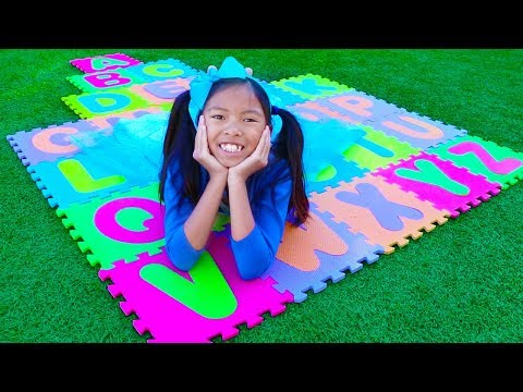 ABC Song  Wendy Pretend Play Learning Alphabet w Toys & Nursery Rhyme Songs