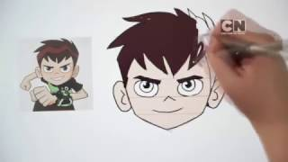 Cartoon Network | How To Draw Ben 10