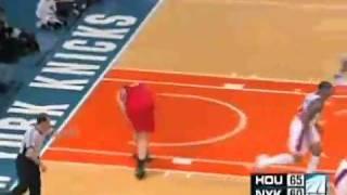 Nate Robinson blocks Yao Ming!, Yao Then Cries! [HIGH QUALITY VIDEO!]
