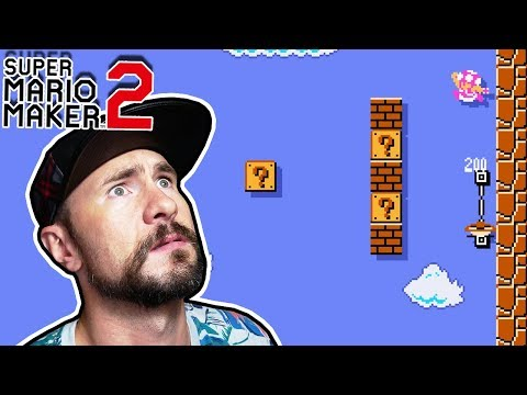 1-1 Flipped On Its Side?! // Three HARD Levels [SUPER MARIO MAKER 2]