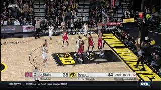 Ohio State at Iowa - Men's Basketball Highlights