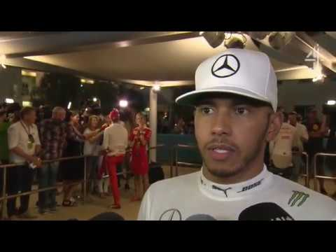 "2016 Abu Dhabi - Post-Race:  ""What am I supposed to do? Let the dude win?"" - Hamilton"