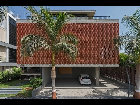 Brick Curtain House in Surat by Design Work Group