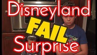 Disneyland Surprise Fail - Best Disneyland Surprise Trip Gone Wrong