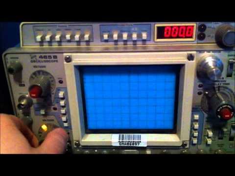 Видео Tektronix 465b oscilloscope repair manual