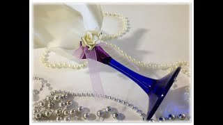 Подарок на свадьбу - Свадебный фужер своими руками (декор)