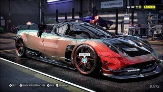 Need for Speed Heat - Pagani Huayra BC 2017 - Customize | Tuning Car (PC HD) [1080p60FPS]