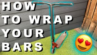 How to wrap your scooter bars