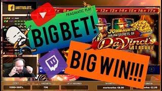 Big Bet!! Big Win From Da Vinci's Treasure!!